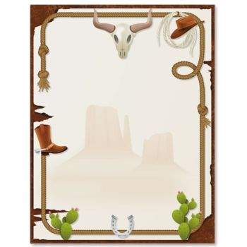 Western clipart rope frame Free Yeehaw! Border Borders Download