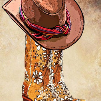 Western clipart rose On printable fashion Boots western