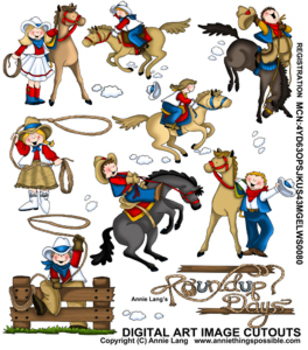 Cowgirl clipart roundup Clipart Free Western Roundup Clipart