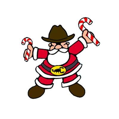 Western clipart santa Free Cowboy clip clipart art