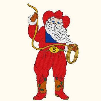 Western clipart santa Art christmas Santa Clipart clip