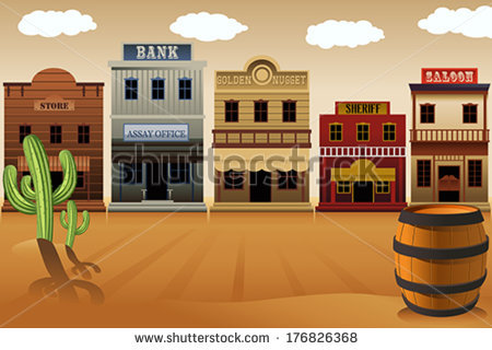 Western clipart storefront A of illustration vector illustration
