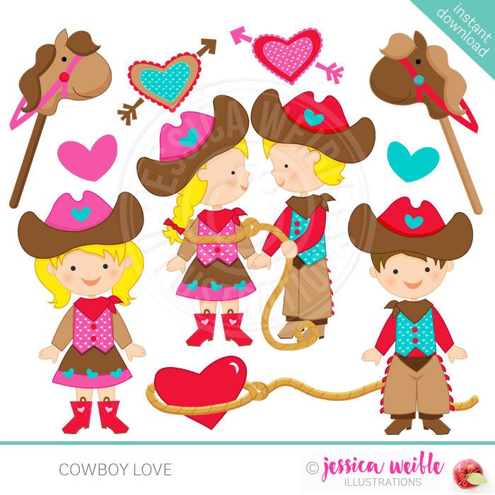 Western clipart valentine Digital OK is file Use