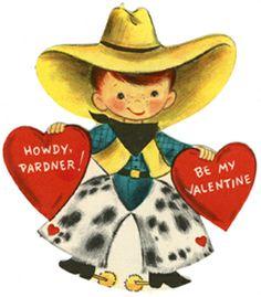 Western clipart valentine 'howdy Americana love it valentine