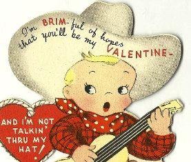 Western clipart valentine Card Ephemera Pinterest images Cowboy