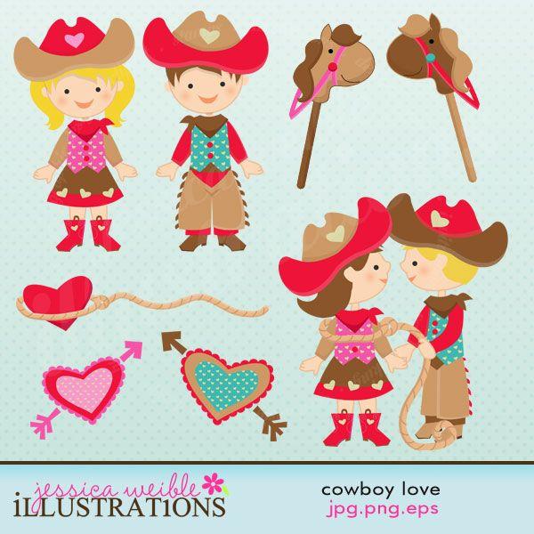 Western clipart valentine Cowboy clip cowboys best Pinterest