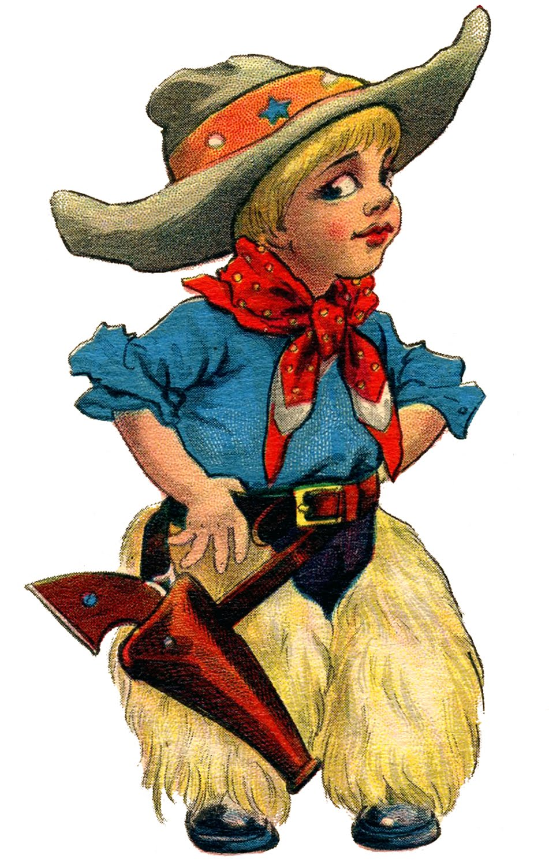 Cowboy clipart vintage cowboy Little free  tattoo clip