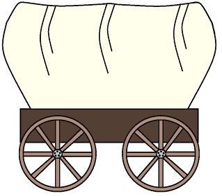 Western clipart wagon train WEST Walkers TRAVELED PIONEERS Group
