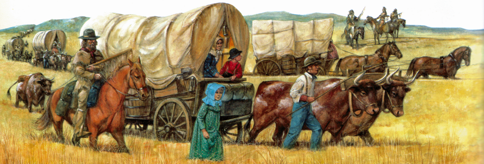 Western clipart wagon train Reading A Playing Fisher Working