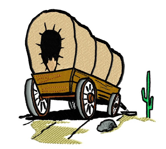 Western clipart wagon train Train Wagon Covered cliparts Clipart