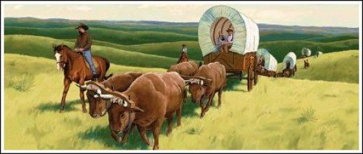 Western clipart wagon train Clipart West Moving  Pioneers