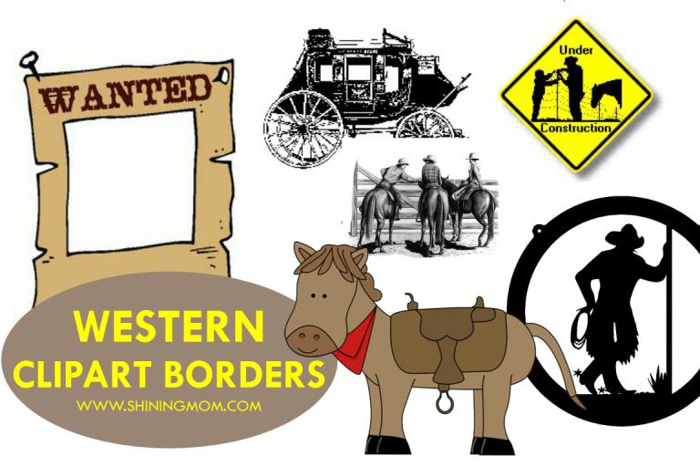 Western clipart wanted WESTERN Clipart Western BORDERS to