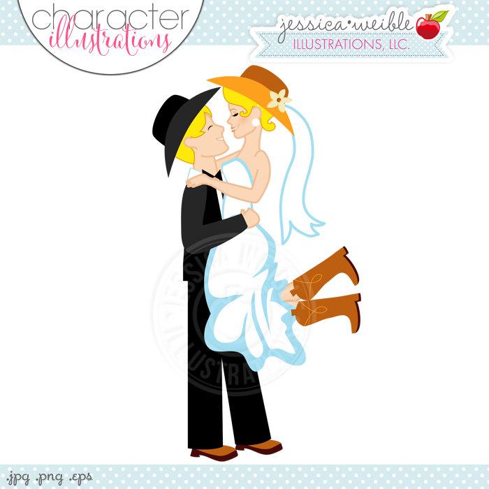 Western clipart western wedding Couple Western Illustration Cartoon Bridal