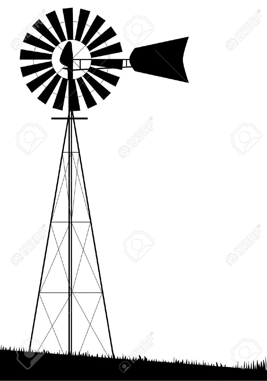 Windmill clipart western Turbine – Art Wind Farm