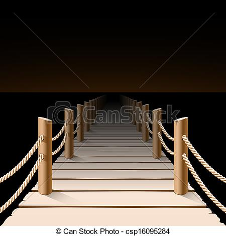 Pier clipart boardwalk Of illustration pier pier csp16095284