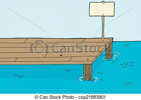 Pier clipart cartoon Of  Clipart Vector cartoon