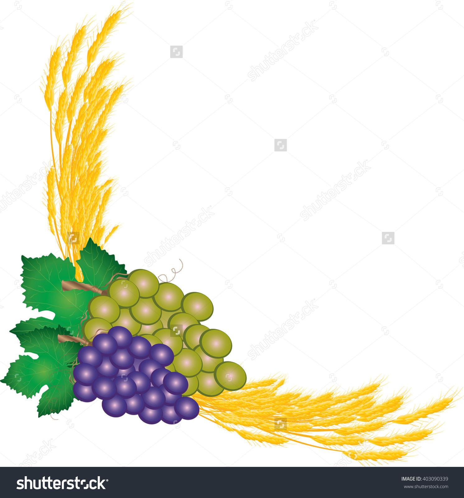 Grape clipart communion chalice Bread and Comunion vector of