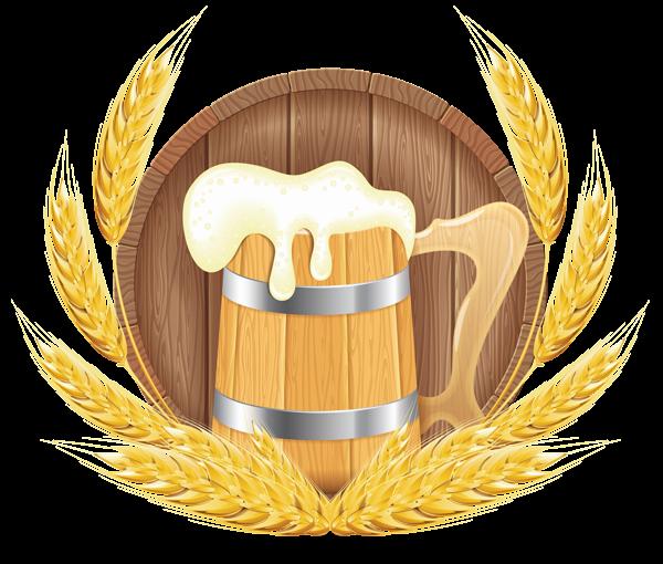 Beer clipart beer barrel Wheat  Oktoberfest Clipart Image