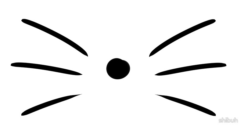 Whiskers clipart Cat Clipart Redbubble Whiskers Phil