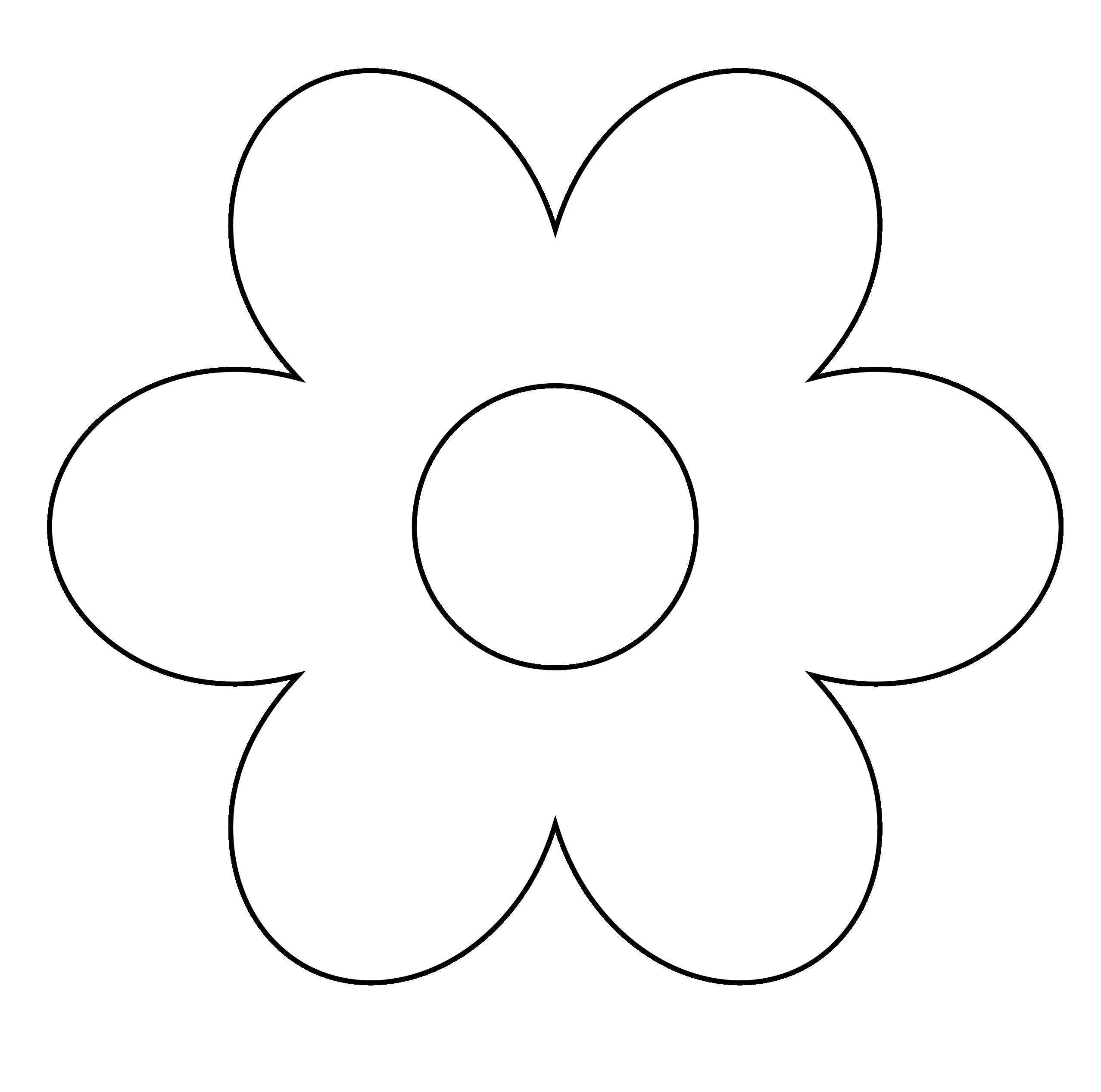Buttercup clipart big flower White White  Black Free