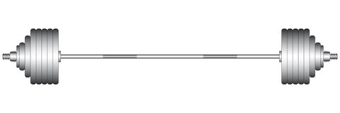 White clipart barbell Olympic Barbell Stock – clipart
