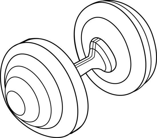 White clipart barbell Barbell Barbell Line Free clipart
