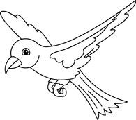 White clipart birdblack Clipart Black and free Bird