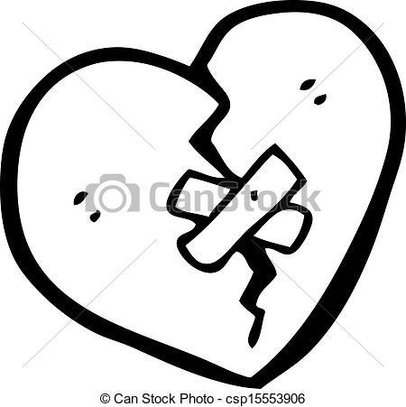 White clipart broken heart  Vector Search csp15553906 Clip