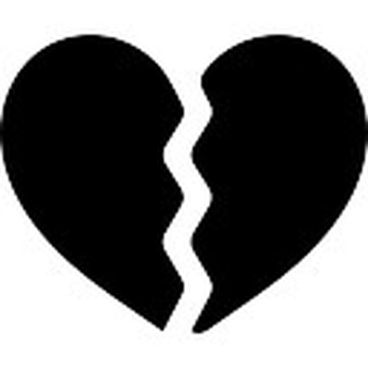 White clipart broken heart Free two PSD and files