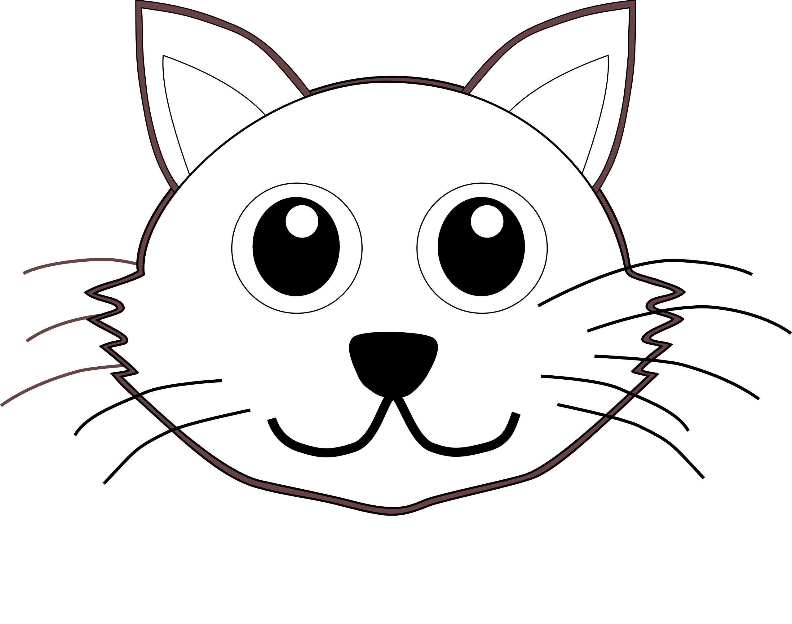 White clipart cat face White Cartoon Cat Face Cat