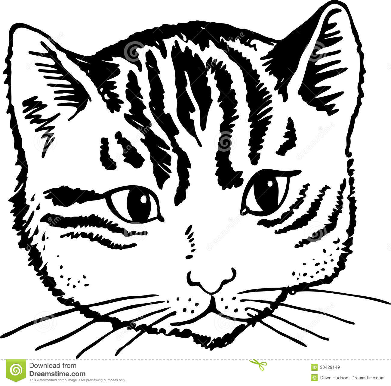 White clipart cat face Black and Clip Art White