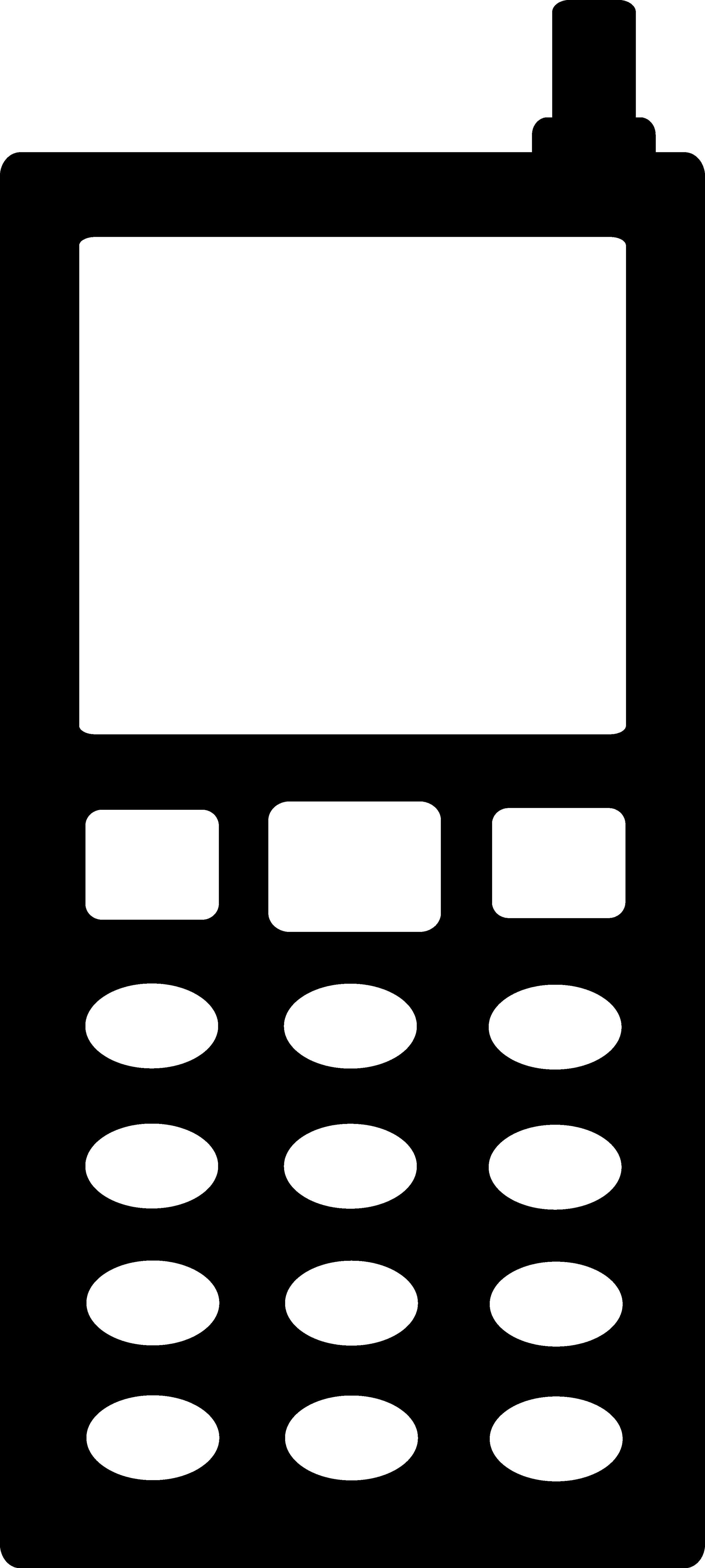 White clipart cellphone White and mobile phone clipart