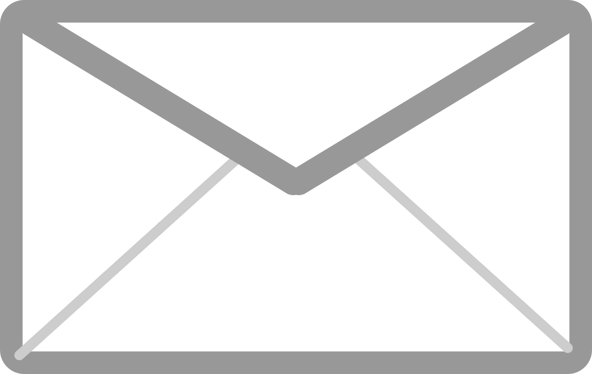 White clipart email Mail Icon and Icon Gray