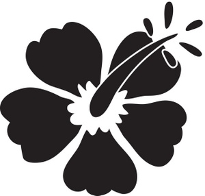 Tropical clipart black and white #10