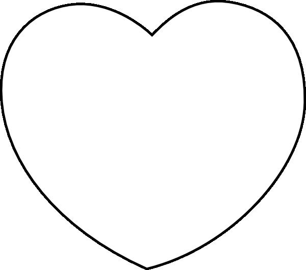 White clipart love heart Clip Clip art at Art