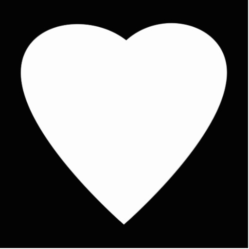 White clipart love heart Black White Heart and Free