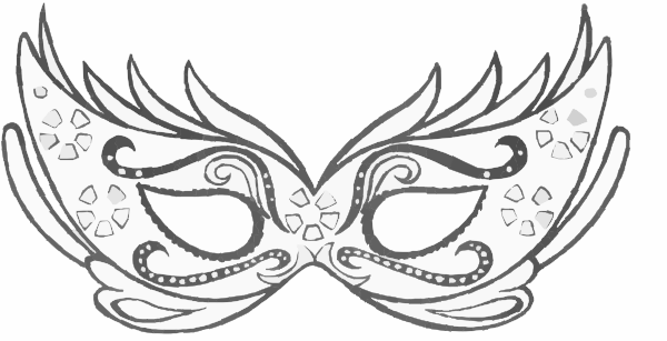 White clipart masquerade mask Free online clip art image