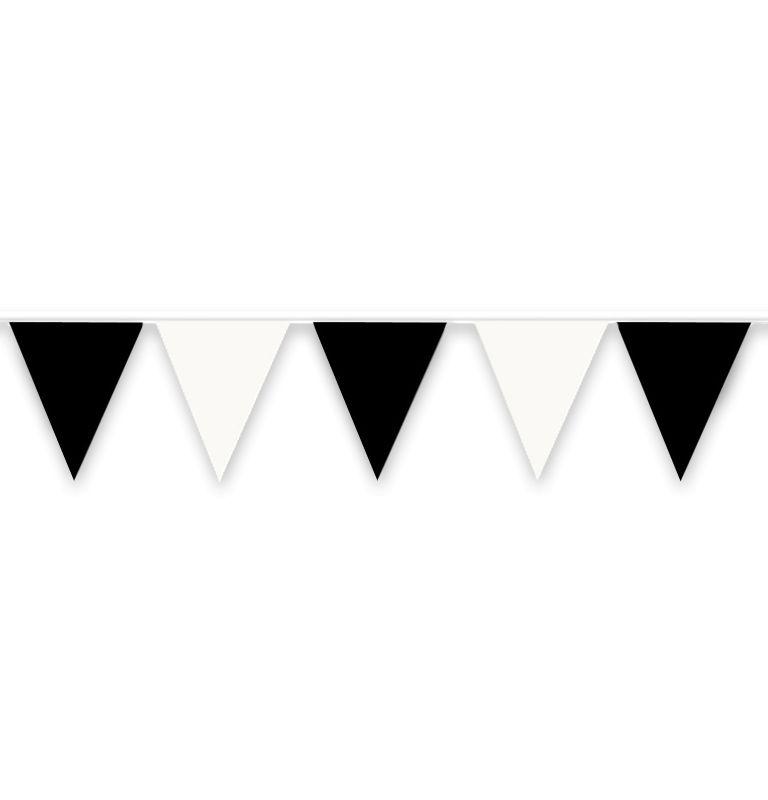 White clipart pennant banner And Art Banner Black Pennant