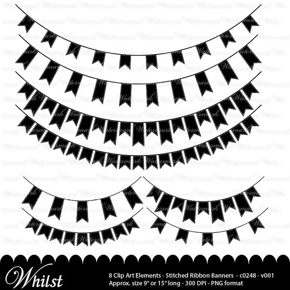 White clipart pennant banner Gallery Clipart Flag Black And