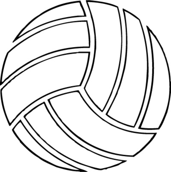 Ball clipart netball ball Free clipart volleyball Black