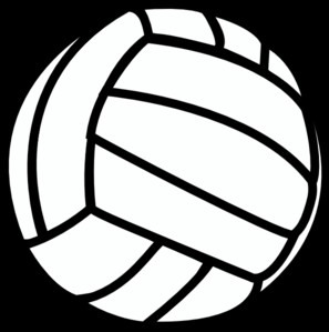 Black clipart volleyball Volleyball Free free black clipart