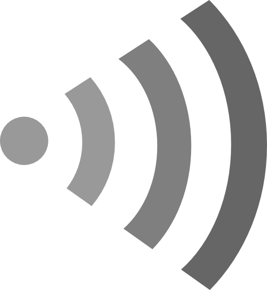 White clipart wifi Vector image  at Grey
