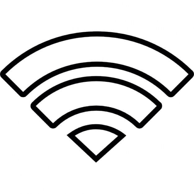 White clipart wifi 7 Icons IOS symbol 7