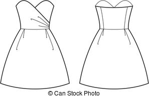 White Dress clipart  Summer Front dress of