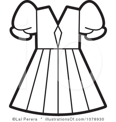 White Dress clipart vector Art And Black Clipart Images