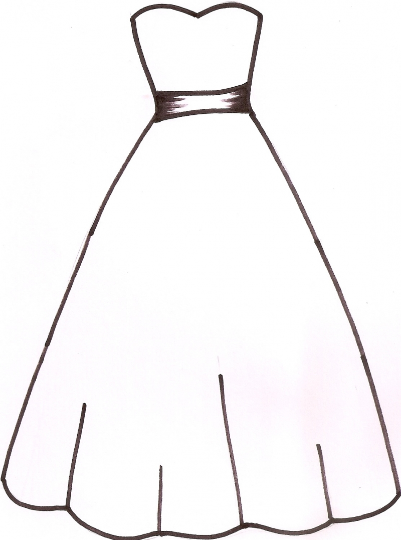Wedding Dress clipart debutante  White Dress drawings White
