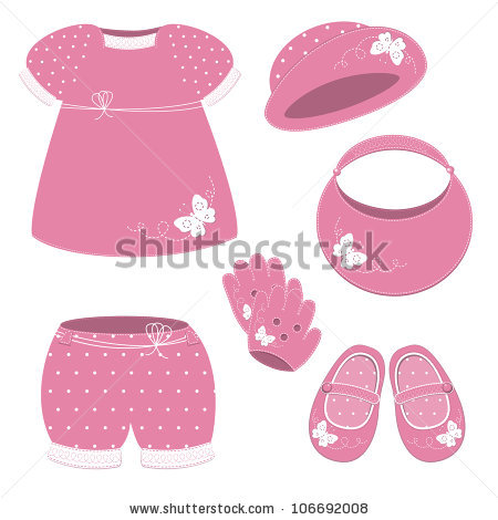 Pink clipart baby hat Girl Set Baby hat girl
