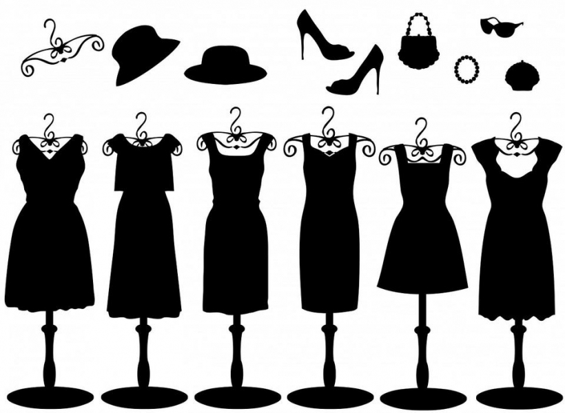 White Dress clipart black Black clipart intended dresses accessories