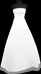 White Dress clipart clipart transparent #11