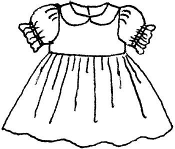 White Dress clipart color And white black dress dress
